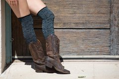 Darby's Boot Socks - Dakota Floral CHARCOAL NWT (2 available) in Camp Lejeune, North Carolina