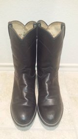 Justin 3133 Black Rocky Cowboy Leather boots in Spring, Texas