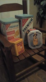 Antique / Vintage Display  Food Tins in Bolingbrook, Illinois