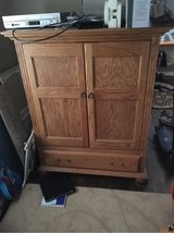 solid Oak TV Hutch and side cabinets in Morris, Illinois