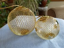 Gold ball ornaments in Plainfield, Illinois