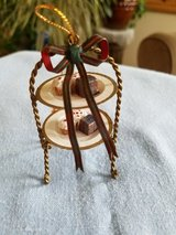 Two tier tray with desserts ornament in Plainfield, Illinois