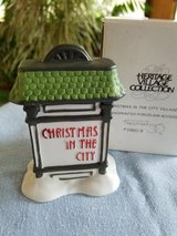 NEW Dept 56 Xmas in the city sign in Plainfield, Illinois