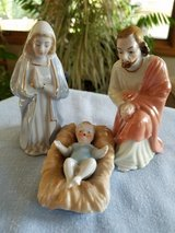 Ceramic Holy Family figurines in Plainfield, Illinois