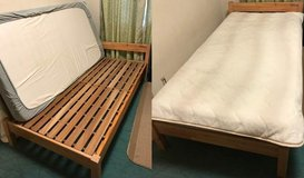 Single Bed w/Wood Frame in Yokota, Japan