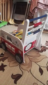 ROBA wooden baby walker, sturdy, full with baby toys in Ramstein, Germany