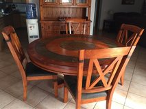 Matching Oak Hutch and Dining Room Table in Ramstein, Germany