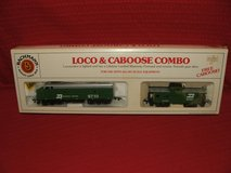 Burlington Northern HO Train Engine & Caboose Set by Bachmann NEW in Lockport, Illinois