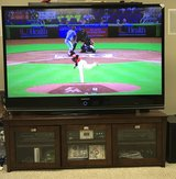 67 inch dlp Samsung tv and cabinet/stand in Pleasant View, Tennessee