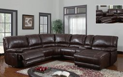 7 piece sofa sectional with 2 power recliners in Houston, Texas