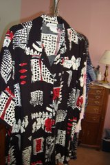 Black, Red and White Blouse   sz 24W in Naperville, Illinois