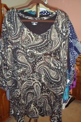Brown & Black Blouse  sz 3X NWT in Naperville, Illinois