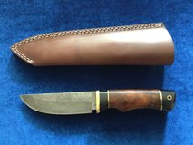 Damascus Camping Knife in Camp Pendleton, California