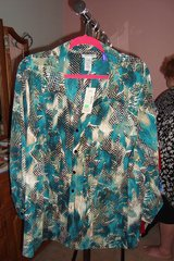 Green & Black Blouse  sz 2X NWT in Naperville, Illinois