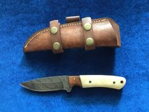 Damascus Hunting Knife w/Bone Handle in Camp Pendleton, California