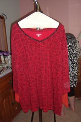 Red & Black Pullover  sz 3X NWT in Naperville, Illinois