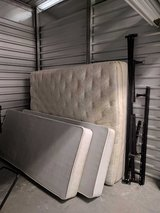 King Size mattress with box springs and a frame in Temecula, California