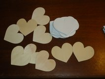 25 ct. wood hearts 3x3 in Naperville, Illinois