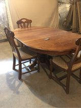 solid oak table w 4 chairs from Belgium in Fort Meade, Maryland