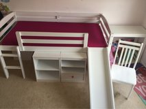 Twin loft bed with slide, desk and storage in Quantico, Virginia