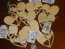 NWT  10 laser cut hearts in Naperville, Illinois