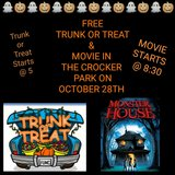 trunk or treat and movie in the crocker park in Fort Leonard Wood, Missouri