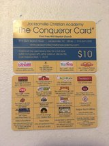 JCA Conqueror Cards $10 Coupon - Discount Card Fundraiser (Private School) in Camp Lejeune, North Carolina