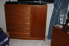 Multi-Piece Teak Laminate Furniture – Chest of Drawers, Dresser, 2 full size hutch units with sh... in The Woodlands, Texas