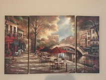 Three pieces painting in Fort Campbell, Kentucky