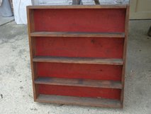 Vintage Red Shelf Bookcase in Naperville, Illinois