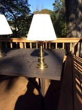 Brass Lamp for 3 way bulb, with shade, excellent condition in Toms River, New Jersey