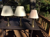 SET OF 2 HEAVY BRASS LAMPS in Toms River, New Jersey