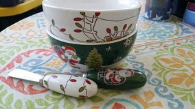 holiday dip bowls w matching spreader in Fort Bliss, Texas