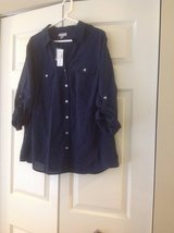 Dress Barn Womens Navy Shirt in Palatine, Illinois