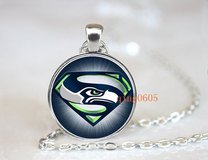 SEATTLE SEAHAWKS Glass Cabochon Pendant / Necklace (Superman design) - NEW in Fort Lewis, Washington