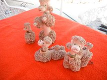 "Vintage Ceramic 'spaghetti"" Poodle Dog family, 4 figurines in Yucca Valley, California"