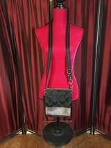 Authentic Coach Crossbody, Black and Silver in Houston, Texas