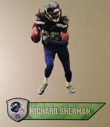 "Richard Sherman FATHEAD Official Player Graphic 25""x11"" +Name Sign 27"" *** NEW in Fort Lewis, Washington"