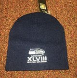Seattle Seahawks Superbowl XLVIII Beanie Hat Navy Blue *** NEW *** in Fort Lewis, Washington