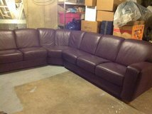 Italian Leather Sectional Sofa in St. Charles, Illinois