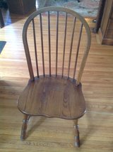 Round Oak Table with 6 Chairs in St. Charles, Illinois