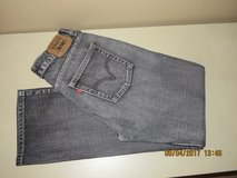 Boy's Levis 514 Charcoal Gray Distressed Slim Straight Jeans 18R 29X29 in Joliet, Illinois