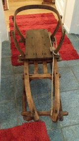 Large antique sled with baby back in Wiesbaden, GE