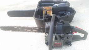 "CRAFTSMAN 18"" CHAINSAW, CASE & EXTRA CHAIN, ""CLEAN"" READY TO CUT!!! in Cherry Point, North Carolina"