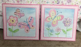 Set of Canvas Pictures girls room in Plainfield, Illinois