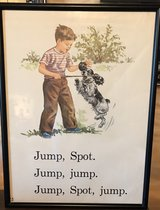 Vintage Dick & Jane Poster in Sandwich, Illinois
