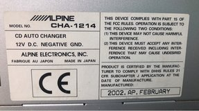 Alpine Ai-Net CHA-1214 12 Disc CD Changer in New Orleans, Louisiana
