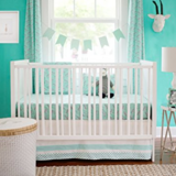 New Arrivals 3 Piece Crib Bed Set-bumper, skirt, sheet. in Fort Rucker, Alabama