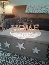 Rustic Stars Wooden Box Storage Chest Coffee Table in Fort Lewis, Washington