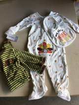 2 Carter's 'My first Thanksgiving' suits (plus one bib)-tags! in Yorkville, Illinois